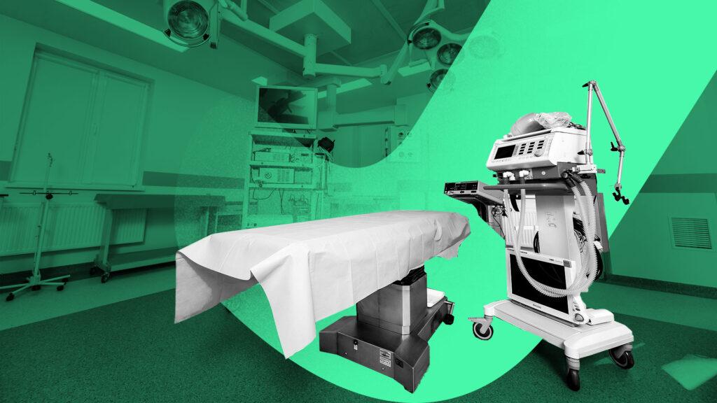 arrendamiento de equipo médico y de hospital